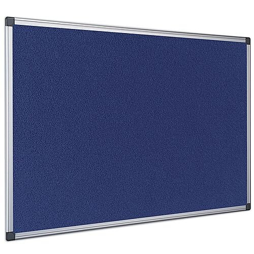 Bi-Office Felt Board 1800 x 1200mm Blue Aluminium Frame FA2743170