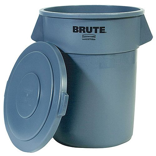 Brute Dustbin Heavy Duty Container 207.2 Litre Grey 382205