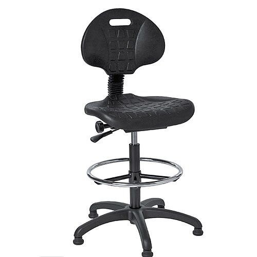 Medium Back Swivel Draughtsman Chair With Adjustable Foot Ring