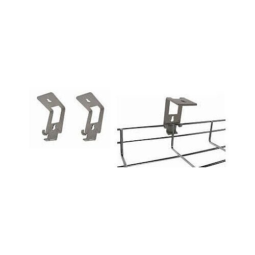 Metal Grey Wire Cable Management Basket Tray 'L' Brackets BTBG