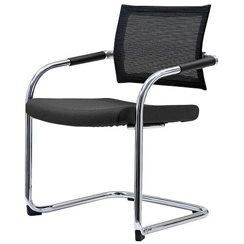 Mesh Back Boardroom Chair With Chrome Cantilever Legs
