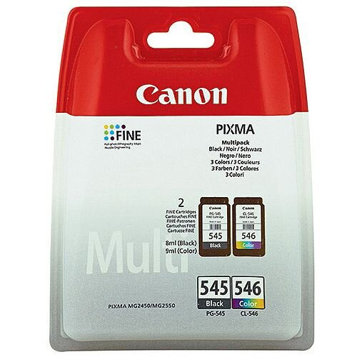Canon PG-545/CL-546 Black/Colour Inkjet Cartridges Twin Pack 8287B005