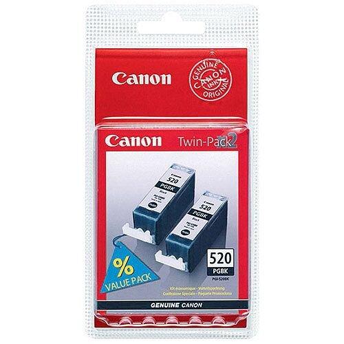 Canon PGI-520BK Black Ink Cartridges Twin Pack 2641B002