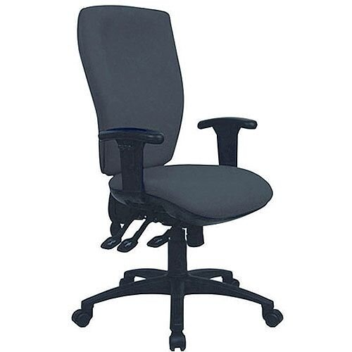 Cappela Deluxe High Back Ergonomic Posture Office Chair Square Black