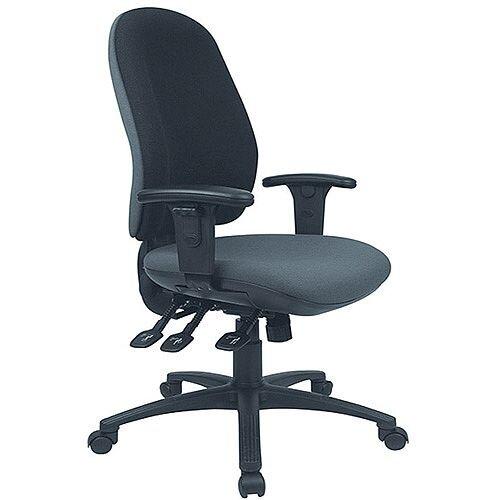 Cappela Radial High Back Ergonomic Posture Office Chair Black KF03499