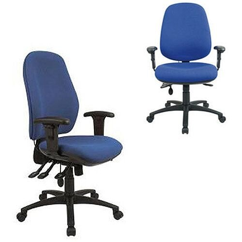 Cappela Radial High Back Ergonomic Posture Office Chair Blue KF03497