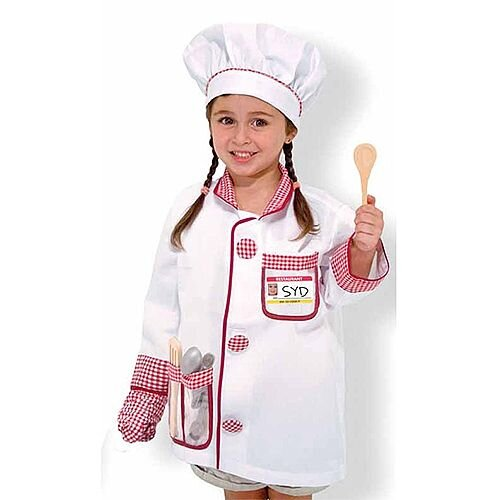 Chef Kids Costume 3-6 Years