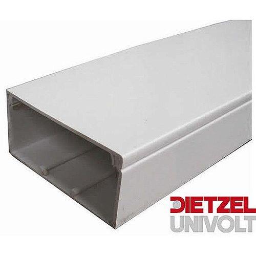 100mm x 50mm PVC Maxi Trunking 3m lgth - White