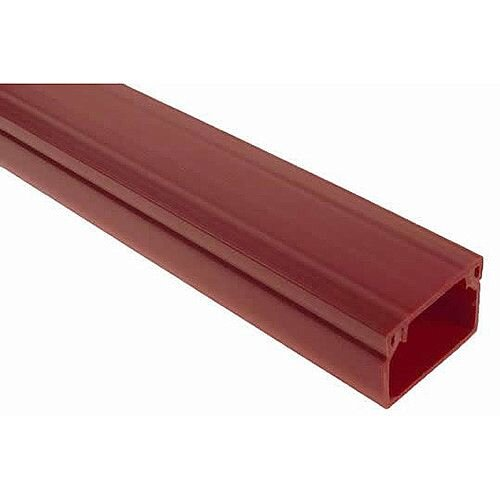 25 x 16mm Adhesive Mini Trunking 3m lgth - Red