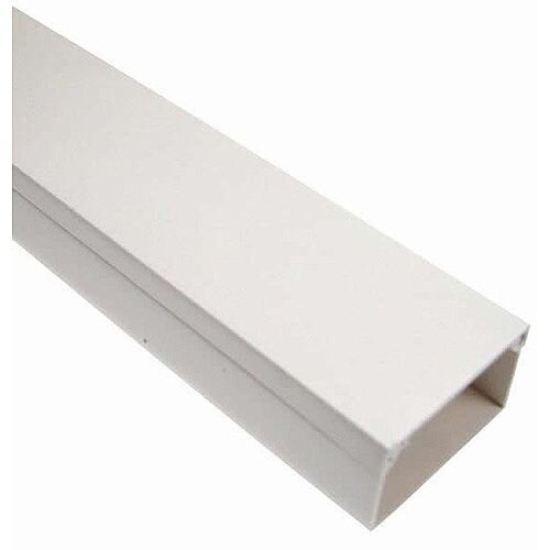 60mm x 40mm Adhesive Standard Mini Trunking 3m lgth - White