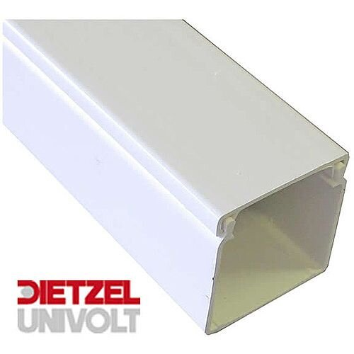 50mm x 50mm PVC Maxi Trunking 3m lgth - White