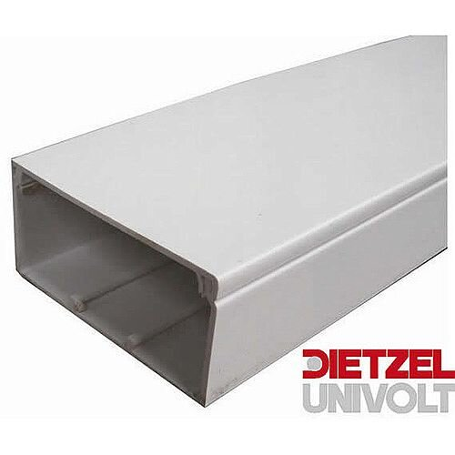 75mm x 50mm PVC Maxi Trunking 3m lgth - White