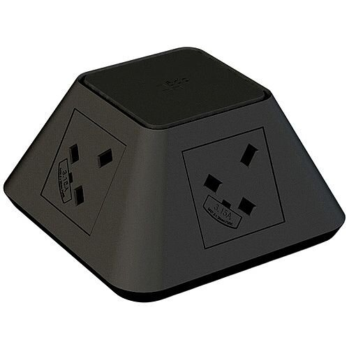 CMD Inca Black Inca 2 x Power &2 x Twin USB Charger 7900055