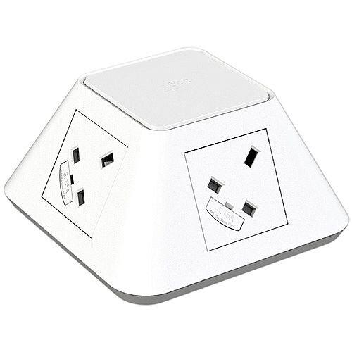 CMD Inca White Inca 2 x Power &2 x Twin USB Charger 7900057