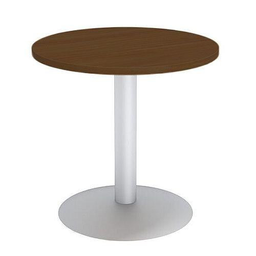 Round Reception Coffee Table D650xH630 Dark Walnut