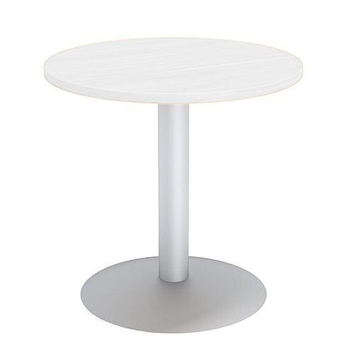 Round Reception Coffee Table D650xH630 White