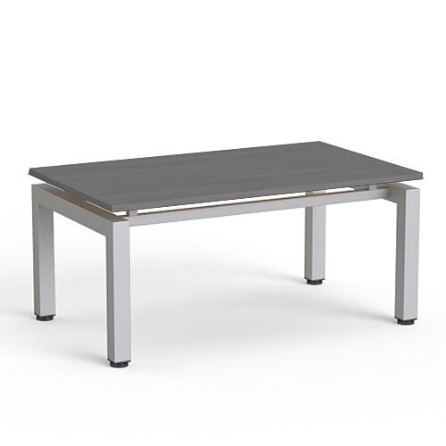 Rectangular Reception Coffee Table Grey Top &Silver Frame W1000xD600xH460