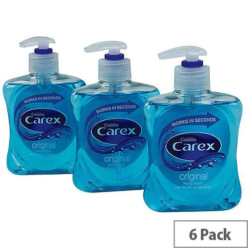 Carex Anti-Bacterial Original Handwash Liquid Soap Hand Wash 250ml (Pack 6) KJEYS2502