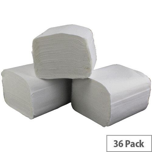 2Work Bulk Pack Dispenser Toilet Tissues Refills White 36 Sleeves 250 Sheets per Sleeve T34434