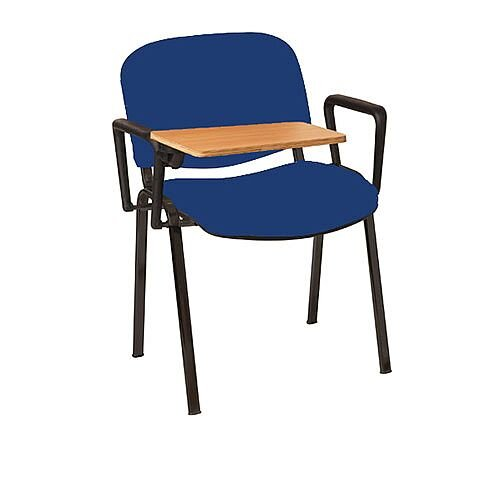 Multi-Purpose Armchair with Writing Tablet Blue with Black Legs