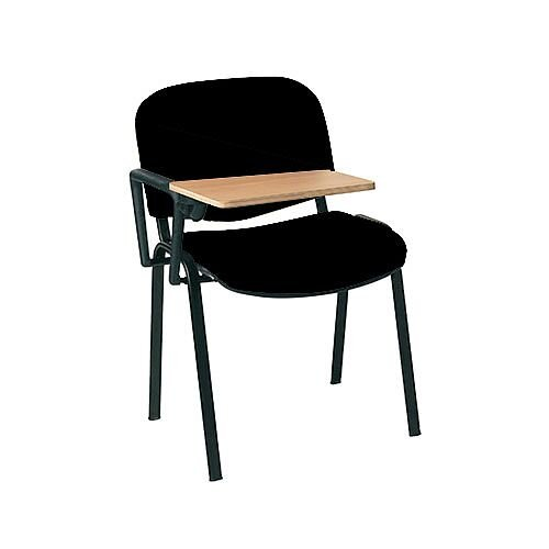 Multi-Purpose Side Chair with Writing Tablet Black with Black Legs