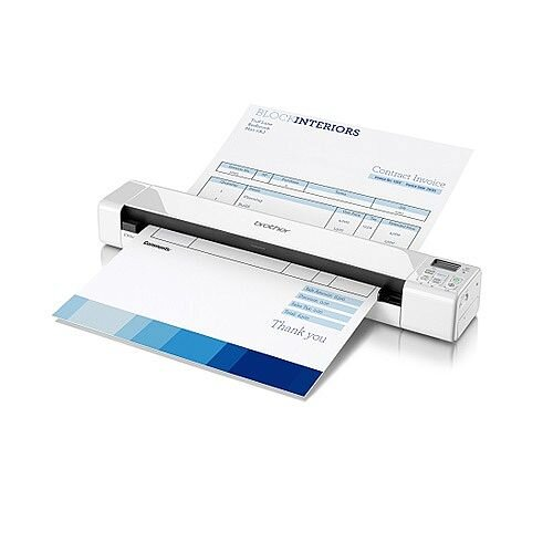 Brother DS-820W Portable A4 Document Scanner, Wi-Fi, Scan Speeds of Up To 8ppm, USB 2.0 Powered, Windows - Mac and Linux Compatible
