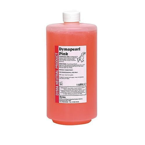 Dymapearl Liquid Pink Hand Wash Soap 1 Litre (Pack of 5)