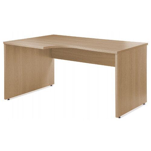 Eco Left Hand Ergonomic Desk EC1380LO Blonde Oak