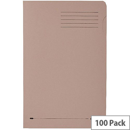 Elba Foolscap Square Cut Folder Recycled Mediumweight 285gsm Manilla Buff Pack 100 Ref 100090216