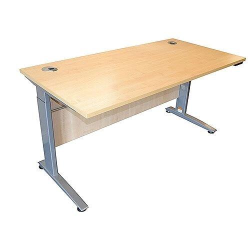 Electric Height-Adjustable Standing Desk W1400 x D800 x H685-1205 Beech