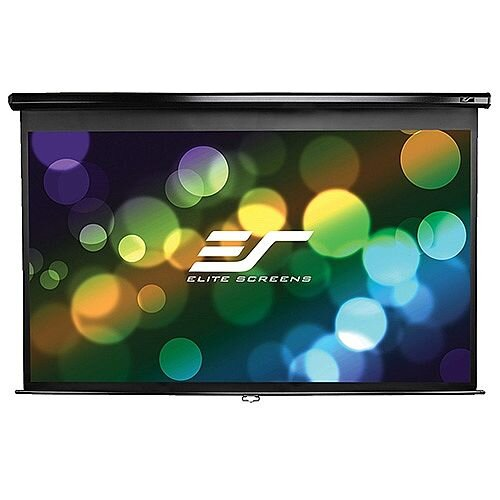 "Elite Manual Wall Projection Screen 275cm x 172cm Viewing Area 128"" Diagonal 16:10"