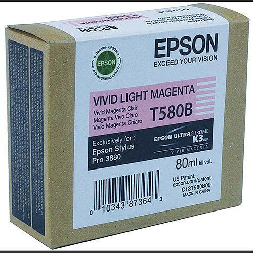 Epson T580B Light Magenta Inkjet Cartridge C13T580B00