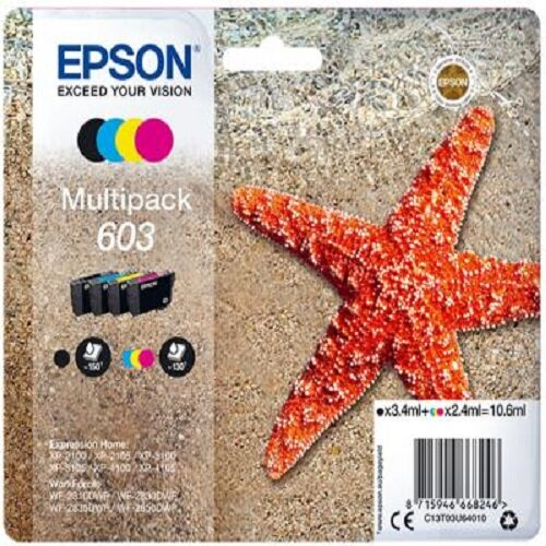 Epson 603 Multipack Inkjet Cartridge - Black, Cyan, Magenta, Yellow