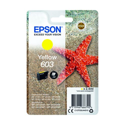 Epson 603 Yellow Original Ink Cartridge C13T03U44010
