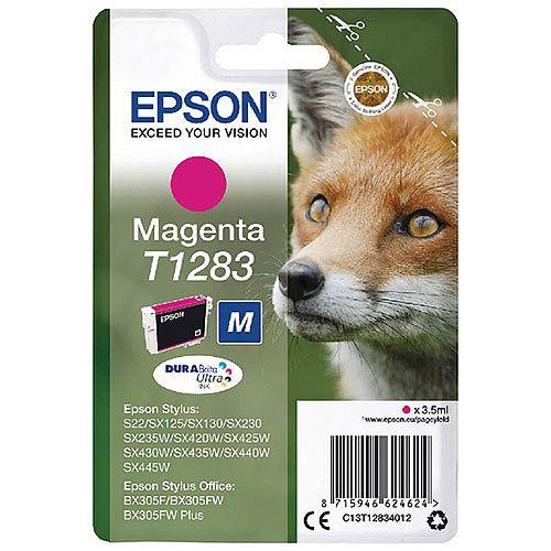Epson (T1283) Magenta Ink Cartridge Fox Series T12834010 C13T12834012