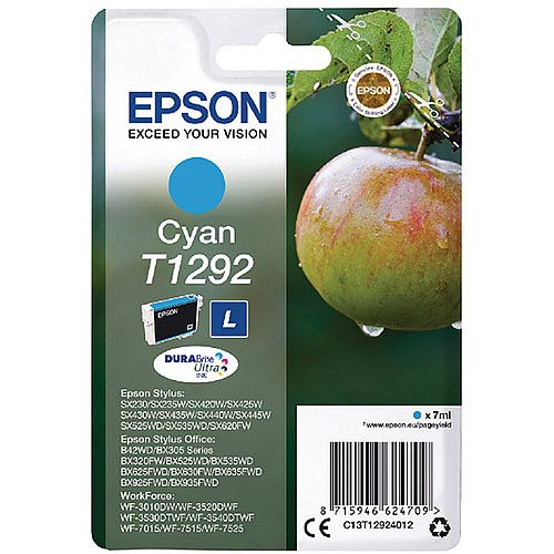 Epson T1292 Cyan Ink Cartridge Apple Series C13T12924012