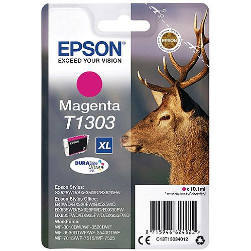 Epson Stag T1303 XL Magenta Ink Cartridge C13T13034012