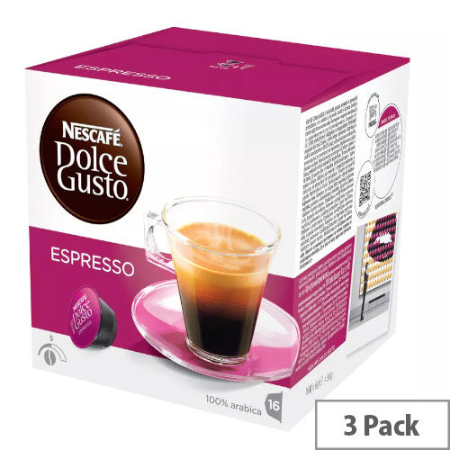 Nescafe Espresso for Dolce Gusto Machine Capsules Makes 48 Cups of Coffee