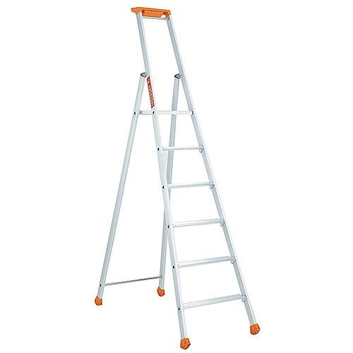 Aluminium 6 Tread Eurostep Steps Platform Height 1.32m Capacity 150Kg