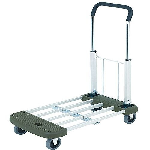 Extendable And Folding Platform Trolley Blue 150kg Capacity 315167