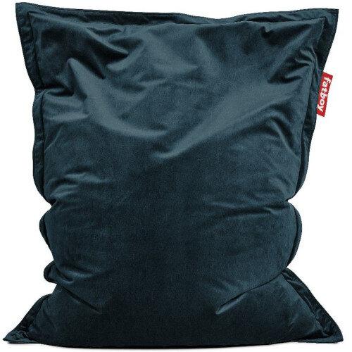 Slim Velvet Bean Bag 155x120cm Petrol Suitable for Indoor Use - Fatboy The Original Bean Bag Range