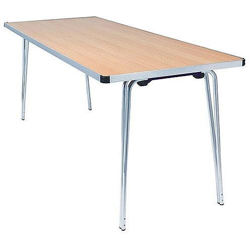 Lightweight Aluminium Folding Leg Table Rectangular Beech W1830xD685xH698mm Jemini KF74026