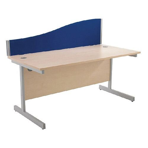 FF Jemini Wave Desk Screen 1200mm Blue KF73923