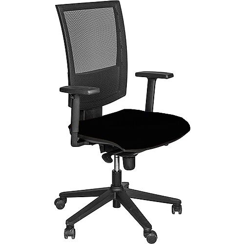 Flash Mesh Office Chair With Tension Control Adjustable Back & Arms Black
