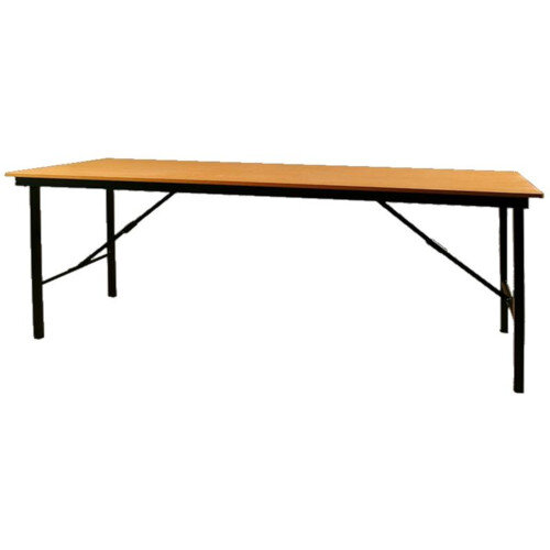 Folding Trestle Table L1200 x W750 x H730mm Beech Top Black Frame