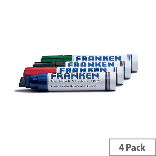 Franken Jumbo Assorted Colours Board Markers Pack of 4 Z1909