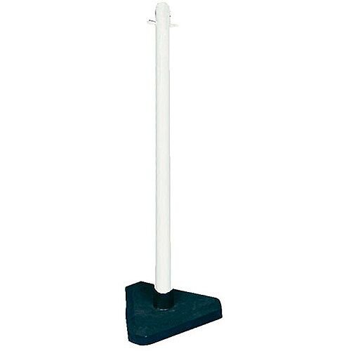 Freestanding Post Triangular Concrete-Weighted Base White 328269