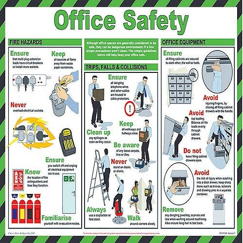 Health and Safety 420x590mm Office Safety Poster