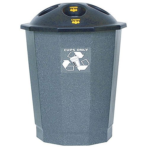 General Waste Recycling Bank Closed Flap Black/Granite 75L 361032