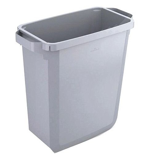 Durable Durabin Recycling Slim Bin 60 Litres Grey Without Lid S10496050